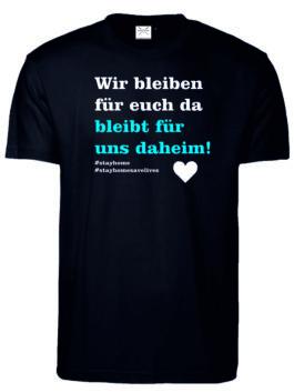 "T-Shirt mit ""stayhome"" print"