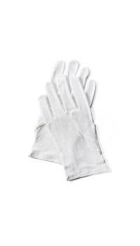 12 Paar Baummwoll-Handschuhe weiß – Größe XL