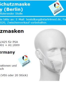 6er Pack Schutzmaske FFP2 NR-CE2163 DE